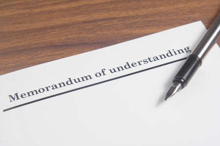 Memorandum of Understanding Letter Stock Photo
