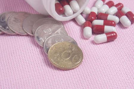pills and white bottle