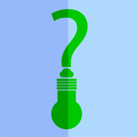 Question Mark and Lamp  photo