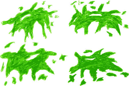 splurge: hand draw sketch, light green Splash