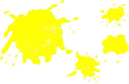 splurge: hand draw sketch, yellow Splash Stock Photo