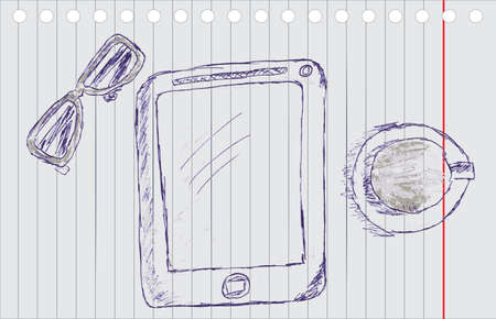hand draw Sketch - Gadget photo