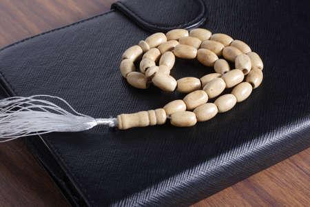 coran: tasbih - moslem prayer beads Stock Photo