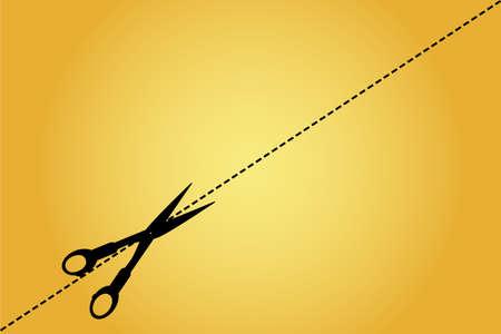 Scissor, cut here Vector