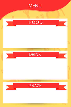 Template Restaurant Menu  Vector