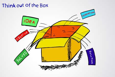 out think: Piense fuera de la caja