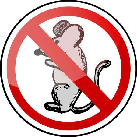 don't: Traffic Sign - Mouse Don t Illustration