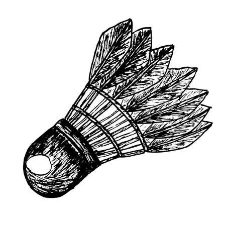 doodle Shuttlecock  Vector