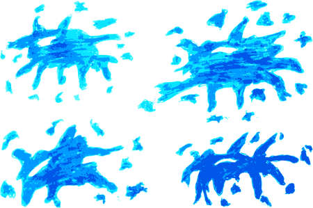 splurge: hand draw sketch, light blue Splash