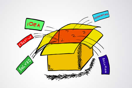 think out of the box: Think out of the Box Illustration