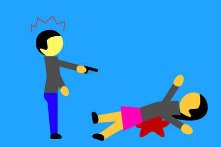 woman killed by a man photo