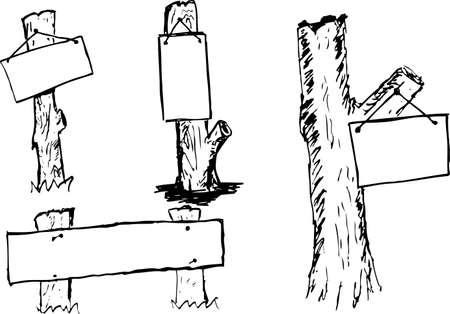 stake: Wooden Board Illustration