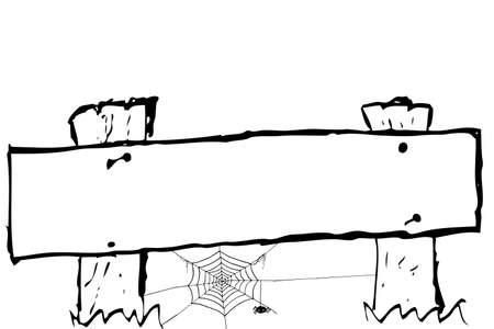 poison arrow: Wooden Board Illustration