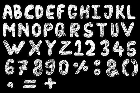 Doodle Font - Streak Stock Photo