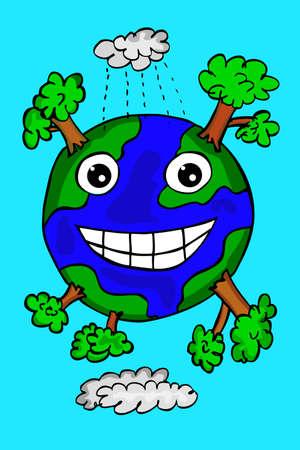 doodle happy earth photo