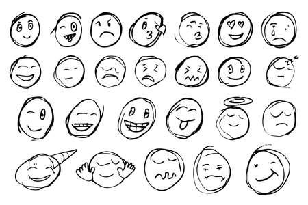 love sad: hand draw sketch, emoticon