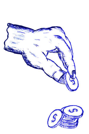 Doodle Hand, Pick a coin photo