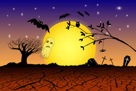 super cross: Doodle Halloween Background