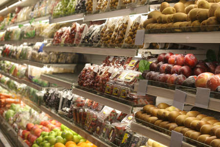 various frozen food at supermarket case
