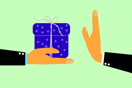 Hand - Refuse Gift From Other Hand Vectores
