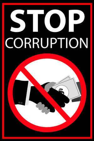Vector poster Stop Corruption photo