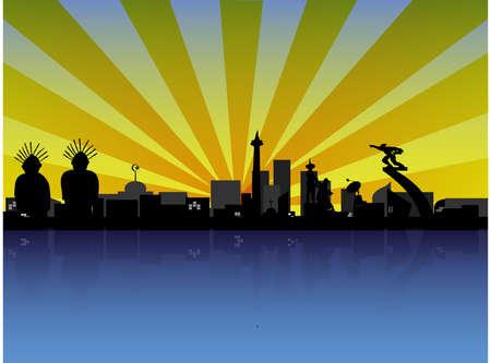 jakarta: Jakarta in Silhouette