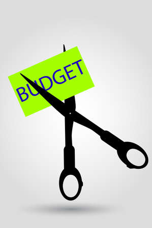 economic activity: hand draw, sketch of budget cutting