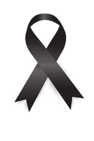 Black Ribbon on white background Reklamní fotografie