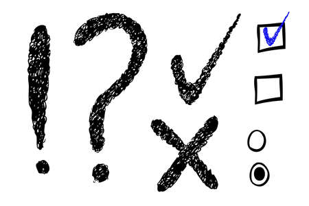 Question Mark Exclamation  Checklist photo
