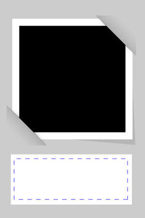 plain postcards: vector simple Template Frame