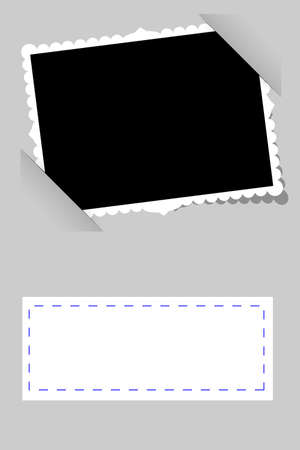 photo frame corner: vector simple Template Frame
