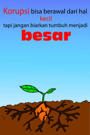 corruption: Corruption Poster in Indonesia Language