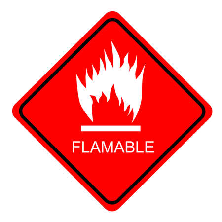 flammable: red sign Flammable