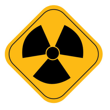 radiation hazard: Radiation hazard symbol sign Stock Photo