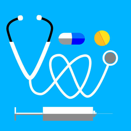 long recovery: Stethoscope  and Pills