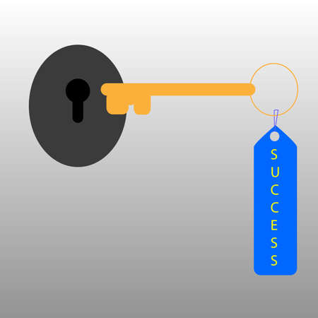 Illustration for key to success illustration
