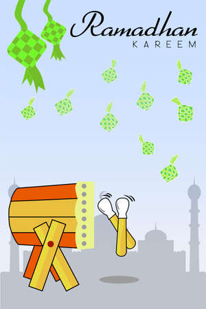 indonesia culture: Ramadhan Greeting Card Illustration