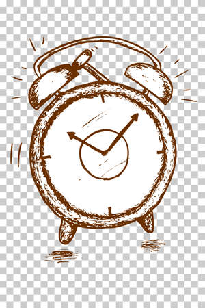 pm: hand draw sketch of chocolate Digital Alarm Clock Illustration