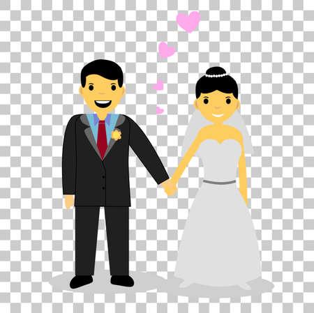 man holding transparent: Holding Hand Bride Couple at transparent effect background