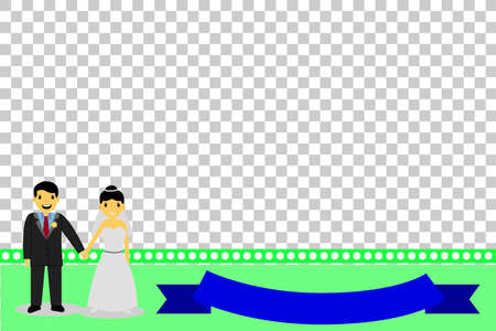man holding transparent: Greeting Card - Happy Wedding, at transparent effect background