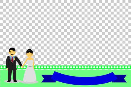 transparent dress: Greeting Card - Happy Wedding, at transparent effect background