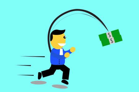 Executive  Catch His Money Stock Photo