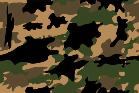 Seamless Hand Draw Sketch of Camouflage