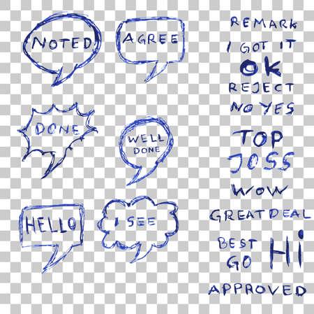 Hand Draw Sketch of Big Bubble Chat Reklamní fotografie