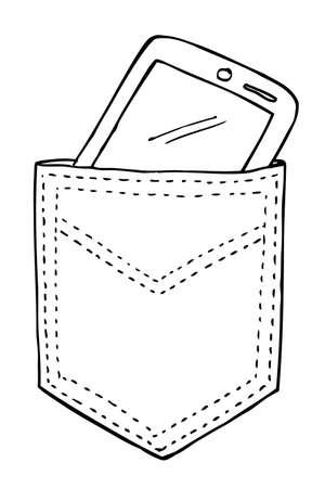 back pocket: Smartphone in the Back Pocket Stock Photo