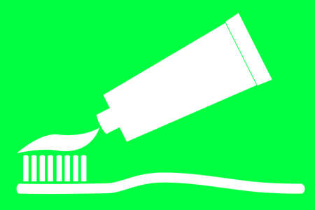 tooth paste: Tooth Paste and Tooth Brush Stock Photo