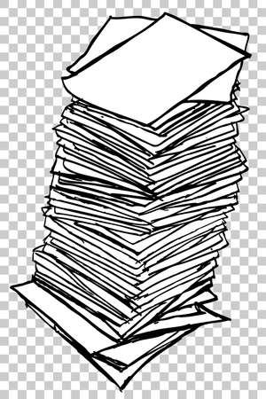 Stack of Paper, at transparent effect background Archivio Fotografico