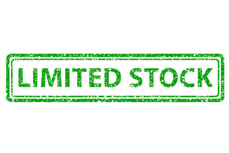 limited: Rubber Stamp - Limited Stock Stock Photo