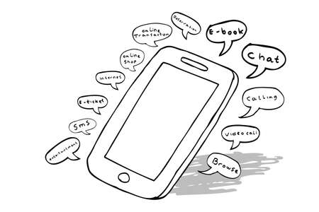 function: illustration for function of smartphone