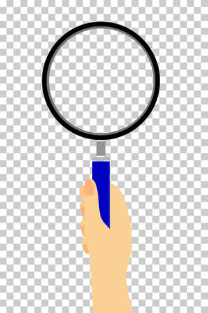 assert: Hand - Holding Magnifier, at transparent effect background